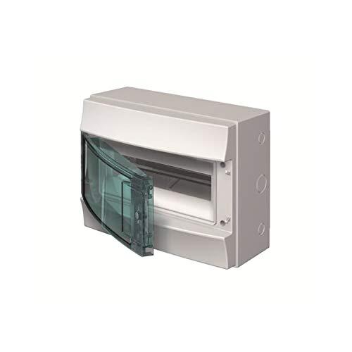Abb-entrelec mistral65 - Caja 12 módulos mistral65 1 fila puerta transparente