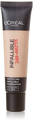 2 x L'Oreal Paris Infallible 24H Matte Foundation 35ml - 12 Natural Rose