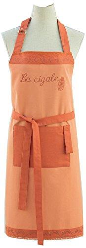 Coucke - Les Provençaux - Tablier Imprimé Cigale Orange Coton