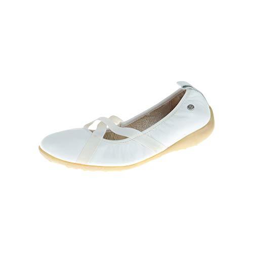 Naturino. Kinderschoenen voor meisjes Ballerina Slipper Wit Bianco 0012010060019101