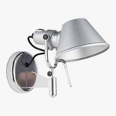 Artemide Tolomeo Faretto LED mit Schalter, Aluminium poliert & eloxiert, 3.000 K