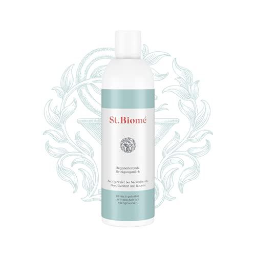 St. Biomé RegenerierendeReinigungsmilch(200 ml), milderGesichtsreinigerbei trockener und sensibler Haut, Neurodermitis, Akne, Ekzemen und Rosazea, für eine schonendeHautreinigung