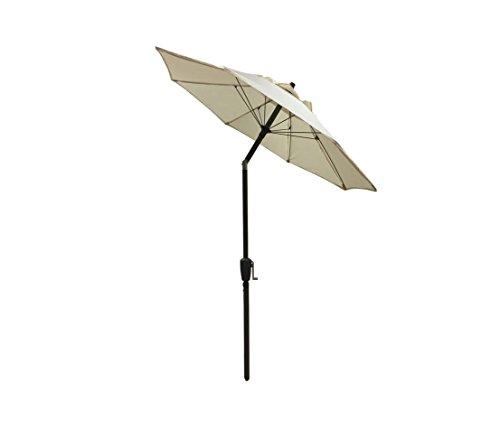 Dehner Sonnenschirm Vido, Ø 150 cm, Aluminium/Polyester, beige