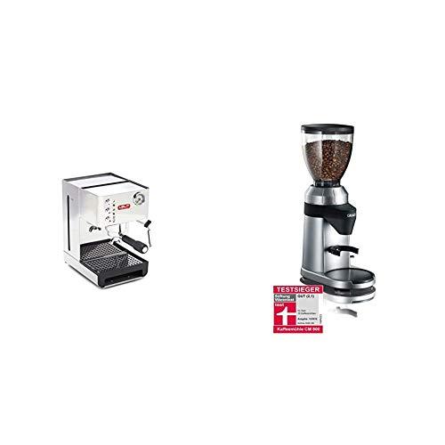 Lelit Anna PL41EM semi-professionelle Kaffeemaschine, ideal für Espresso-Bezug, Cappuccino und Kaffee-Pads, Stainless Steel, 2.7 liters, Edelstahl & Graef Kaffeemühle CM 800
