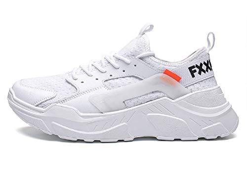 tqgold Scarpe da Ginnastica Uomo Donna Sportive Sneakers Fitness Scarpe da Running(Bianco,Taglia 39)