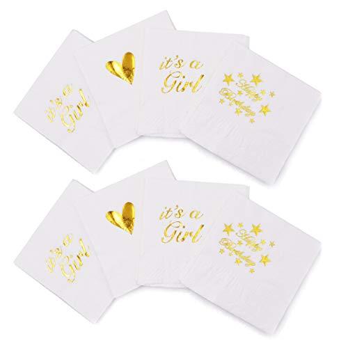 Party Supplies Tableware Decorazioni Confezione da 20 Pezzi Tovaglioli di carta usa e getta con 2 strati, ideali per matrimoni, baby shower, cene, pranzo, feste di compleanno, 20 x 20 cm