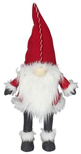 Trendyshop365 Wackelgnom Weihnachtswichtel mit Bart und Zipfelmütze in vielen Größen bis 200cm (rot, 85cm)