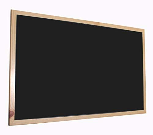 Chely Intermarket, Pizarra Negra 90x60 cm, Enmarcado con Madera sólida, Ideal para Uso Educativo, hostelería y tablón de anuncios. Apto para Uso con Tiza y rotulador de Pizarra.(550-90x60-2,70)