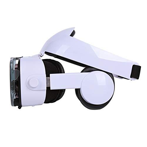 MMFXUE Auriculares VR, Gafas 3D montadas en la Cabeza, Auriculares de Realidad Virtual con Auriculares Integrados con un Panorama de 360 Grados Plataforma Compatible iOS