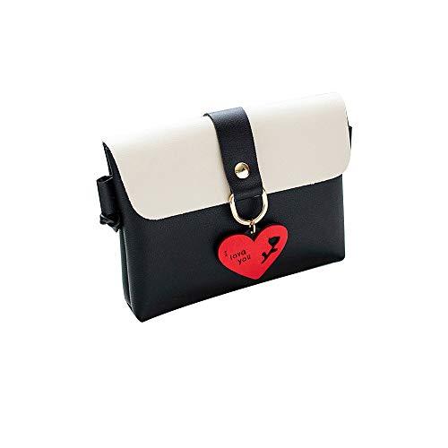 Bfmyxgs Fashion Messenger Bags für Frauen Mädchen PU Solide Hasp-Verschluss Soft Back Flap mit Stilvolle Pure Color Leder Schultertasche Brusttasche Kleine runde Schnalle mit quadratischer Handytasche