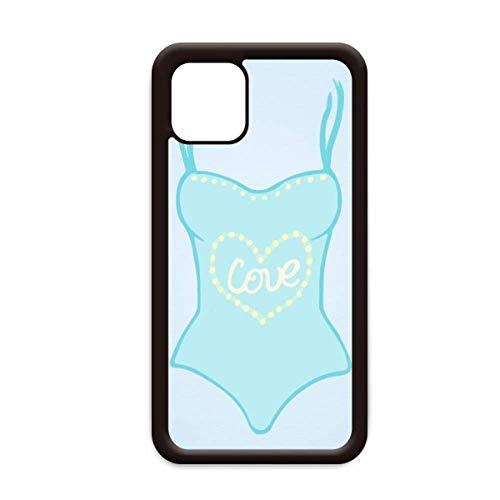 Illustratie Blauw Badpak voor Apple iPhone 11 Pro Max Cover Apple mobiele telefoonhoesje Shell, for iPhone11 Pro Max