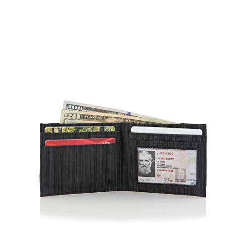 Allett Slim Front Pocket Nylon ID Wallet - Black