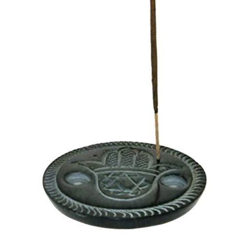 Support à bâtons d'encens en pierre à savon Main de Hamesh