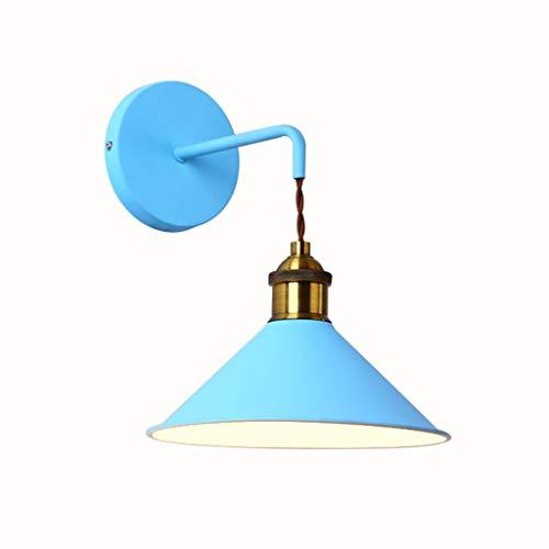 Industrielle Retro Moderne Wandlampen Kreative Einfache und Warme Nachtwandlampen Badezimmer Cabinet Lights Aisle Concealer Balkon Treppenwandleuchten, BOSS LV, Blau