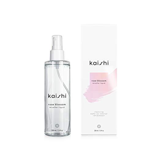 Kaishi - Rosenblüten-Mizellar-Flüssigkeit - erfrischt, glättet, sorgt für den richtigen pH-Wert - 200ml