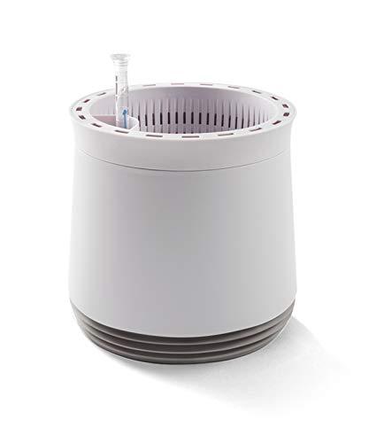 AIRY System M (Ø 28 cm) – Patentiertes System mit der Kraft der Pflanzen als natürlicher Luftreiniger und Luftbefeuchter für Innenräume (Antique White/Light Grey)