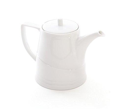BergHOFF Bianco Vitrified wit porseleinen theepot 1,1 l, 15,5 x 16 x 19,5 cm