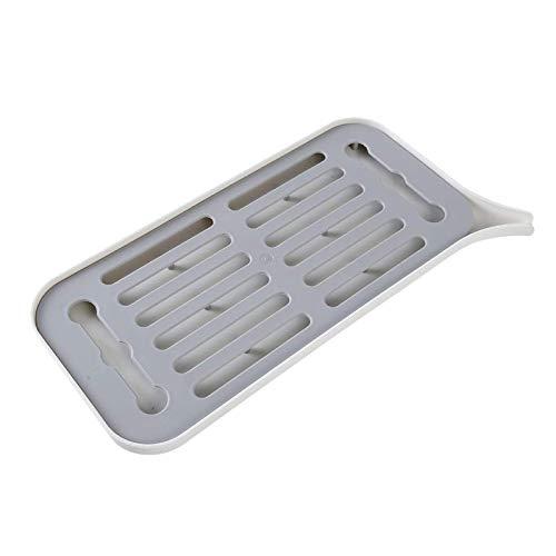 BANGSUN Bandeja de drenaje para fregadero con pendiente de goteo, escurridor de platos grande, color blanco