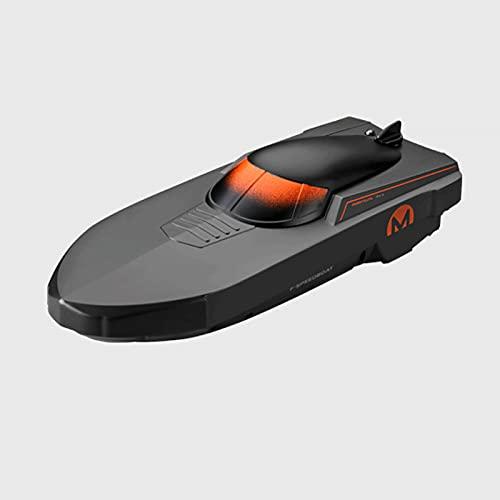 CHENBAI Embarcación al aire libre controlada por radio de 2,4 GHz, barco de carreras rápido de más de 10 Mph, para piscinas y lagos, alarma de batería baja, regalos para niños niñas, regalo de Hallowe