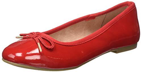 Tamaris Damen 1-1-22123-24 Geschlossene Ballerinas, Rot (Chili Patent 520), 41 EU