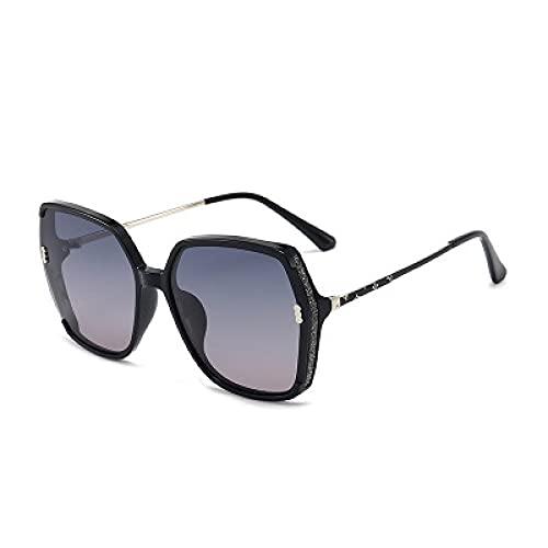 Powzz ornament 2021 Nuevas gafas de sol Femenino Moda en línea Celebridad con TR Box Gafas de sol Marea femenina al aire libre-Azul