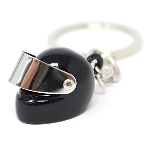 VmG-Store Motorrad Helm Schlüsselanhänger mit Klappvisier (Schwarz)