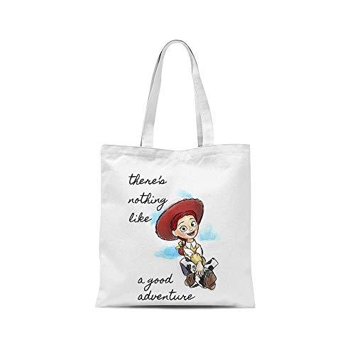 all sas - Bolsa shopper de juguete Story Jessie 100% tela de algodón con impresión fabricada en Italia