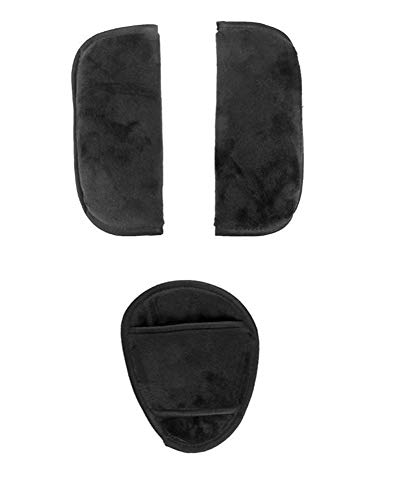 3 pc Cushion Shoulder Harness Pad Covers and Handlebar Covers Grips Slip On for URBINI Baby Child Strollers and/or Car Seats Accessories Replacement Parts (3 pc Cushions Only)