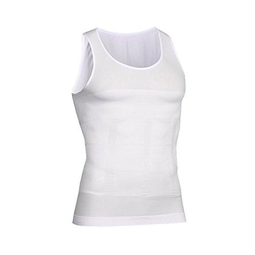 VENI MASEE Men es Body Shaper Schlankheits Weste, Männer elastische Formung Weste thermische Kompression Basisschicht schlank Kompression Muskel-Tank Shapewear