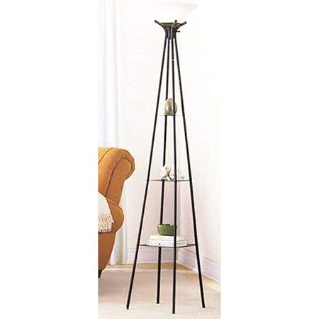 "Mainstays 69"" Etagere Floor Lamp, Charcoal Finish"