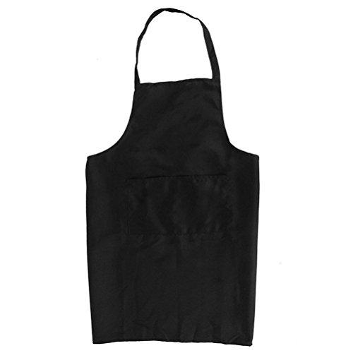BESTOMZ Tablier de Cuisine Sans Manches Licou Dos Style avec Poches (Noir)