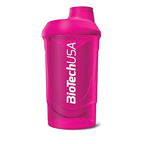 Biotech Shaker Wave - Shaker per Frullati di Proteine, Magenta - Capacità: 600 ml