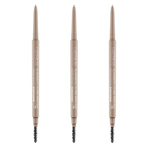 Catrice Slim'Matic Ultra Precise Brow Pencil Waterproof, Kajal, Nr. 015 Ash Blonde, braun, definierend, volumengebend, langanhaltend, matt, vegan, wasserfest, Nanopartikel frei, 3er Pack (3 x 0,05g)