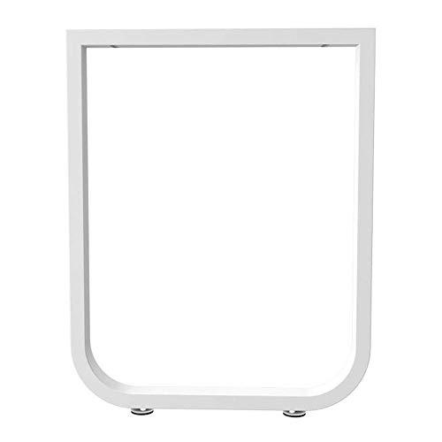 ZXL tafelpoten in hoogte verstelbaar 28,5 inch, tafelpoten van ijzer, bijzettafel, keukentafel, moderne stijl, eenvoudig te installeren, 1 pakket, zwart/wit
