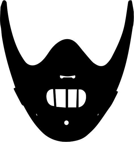Hannibal Lecter masker Vinyl Decal Sticker Horror stilte van de lammeren Hopkins 30