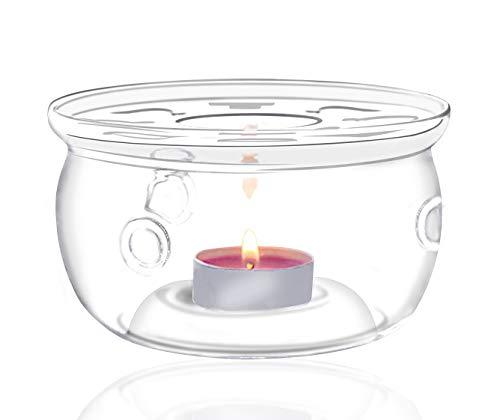 Jusalpha High Heat Resistant & Lead-Free Glass Teapot Warmer (Glass warmer 002)