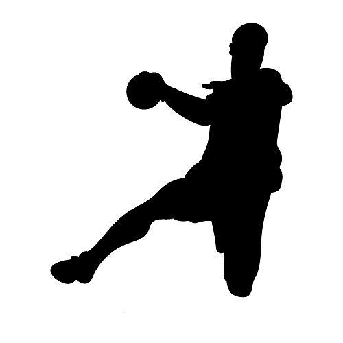 EmmiJules Wandtattoo Handball-Spieler Handballer - Made in Germany - in verschiedenen Größen und Farben – Handball Kinderzimmer Junge Sport Wandsticker Wandaufkleber (60cm x 50cm, schwarz)