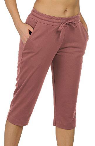 icyzone Damskie spodnie dresowe, spodnie do joggingu 3/4, spodnie sportowe casual, proste nogawki, z kieszenią