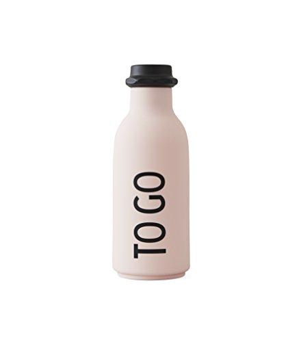 Bouteille à boire Motif Lettres TO GO (Rose)