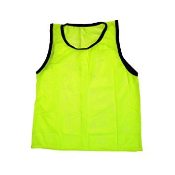 Scrimmage Training Vests Soccer Bibs Youth Set of 12 (Yellow)