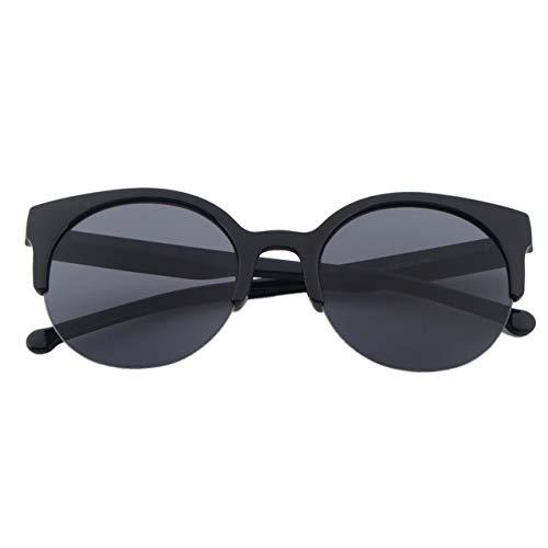 NewIncorrupt Diseño de Moda Unisex Clásico Forma Redonda Marco Circular Gafas de Sol Semi-sin Montura Gafas al Aire Libre Hombres Mujeres Gafas de Sol