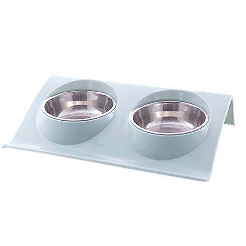 MLOZS Grundlagen Stab Eisen Halter Doppel Hund Katze Schüsseln Splash-Proof Pet Water Feeder Für Hund Welpen Katzen Haustiere liefert Fütterungsgerichte Pet Bowl, Waschbar