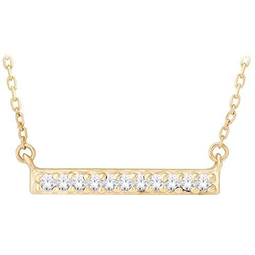 .04 ct. tw. Diamond Pavà Bar Fashion Pendant in 10K Yellow Gold - M297610Y (0.04 Ct Tw Diamond)