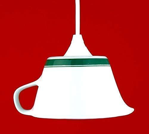 Vintage Geschirrlampe, Boho Lampe aus Geschirr, Retro Küchenlampe, Landhauslampe, Unikat
