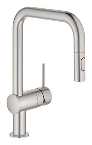 Grohe Minta - Kitchen faucet 1/2', supersteel color (Ref.32322DC2)