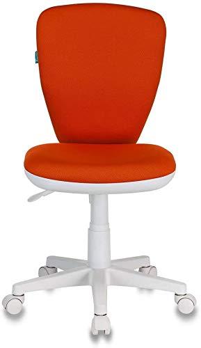 Taburete de oficina Escritorio y sillas para niños giratorios sin reposabrazos,Orange