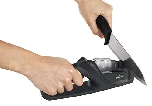Lacor 39266 Afilador de Cuchillos Dual, 21\'5x4\'5x9 cm, Plástico, Negro