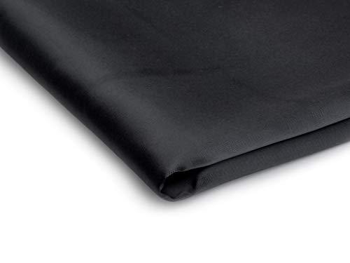 Stoff Satin Dick glänzend Dehnbar - Erhältlich in verschiedenen Farben - 50 x 150cm (Schwarz Nr 11)
