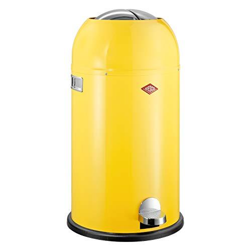 Wesco 184 631 Kickmaster Abfallsammler 33 Liter lemongelb
