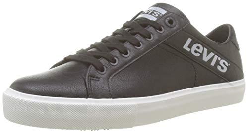 Levi's Woodward L, Zapatillas Hombre, Negro Sneakers